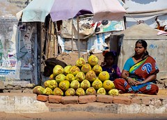 More Fruit For Sale (The Spirit of the World) Tags: india fruit asia candid roadtrip vendor local coconuts foodstall streetshot southernindia indianstreetscene
