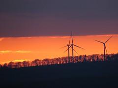 Sunset (Christian Doser) Tags: sunset fire sonnenuntergang bayreuth windpower windrder homeward heimweg rollwenzelei