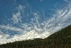 Mountain Winds (Philip Kuntz) Tags: oregon volcano bravo explore mthood cloudscape wispyclouds cirrusclouds cirrusuncinusclouds