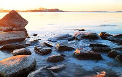 Morning Frost (samikahkonen) Tags: light sea sky sun cold ice nature stone sunrise suomi finland outdoors helsinki frost air balticsea fresh arctic nordic kaivopuisto scnadinavia