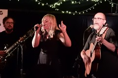 Three of Cat Dog Bird (mikecogh) Tags: music group singers scala launch thewheatsheaf vocalists thebarton catdogbird