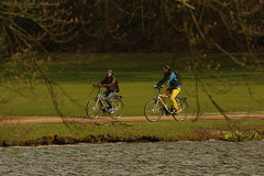 Tervuren.Belgium (Natali Antonovich) Tags: park portrait nature water sport landscape spring couple mood belgium pair lifestyle bikes together tervuren tradition relaxation heandshe enamouredspring