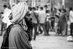 I like to be alone but i hate being lonely. (Tarang Jagannath) Tags: portrait blackandwhite indian sadhu
