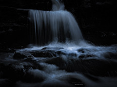 WaterFlow II (Fredrik Lindedal) Tags: light water night flow waterfall movement nikon rocks stream sweden stones tripod surreal moonlight sverige d7200 lindedal