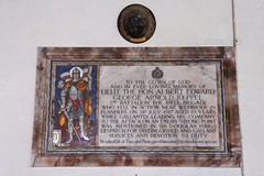 Quidenham, Norfolk, UK (mira66) Tags: england church monument memorial mosaic norfolk stgeorge warmemorial standrew keppel quidenham