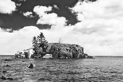 Hollow Rock - Grand Portage MN (dtredinnick13) Tags: blackandwhite bw water minnesota rock island nikon greatlakes northshore mn lakesuperior grandportage hollowrock nikond800 nikor2470