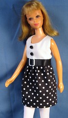 Francie in Black and White (Debras Closet) Tags: white black francie dollclothes