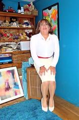 skirt (Trixy Deans) Tags: hot cute sexy tv highheels dress cd crossdressing tgirl transvestite heels corset transgendered crossdresser crossdress sexylegs transsexual classy shemale longdress shemales shortdress sexyheels sexytransvestite