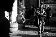 Roma, Italia (mafate69) Tags: street portrait bw man rome roma europe italia noiretblanc candid photojournalism documentary eu nb rue italie homme ue reportage streetshot documentaire photojournalisme photoreportage blackandwhyte mafate69