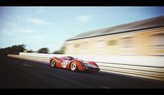 Ferrari 330 P4 (Thomas_982) Tags: auto red italy motion classic cars italian ferrari racing 330 prototype panning rosso maranello gt6 granturismo p4 ps3 sarthe gt5 cavallino rampante