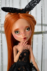 Ms. Bunny (Milk and Bunny) Tags: rabbit monster high doll ooak custom repaint reroot howleen
