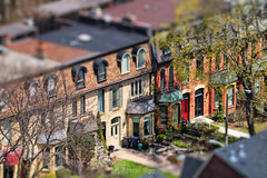 Toy-ronto Life. Spring in Miniature Town (Katrin Ray) Tags: trees toronto ontario canada green canon eos rebel spring april toyland hms tiltshift canonphotography photoshoptiltshift tilfshift 750d katrinray happyminiaturesunday miniaturestyle digimagic toyrontolife jarvismansiondistrict t6i toymansions dreamscapestoronto springinminiaturetown