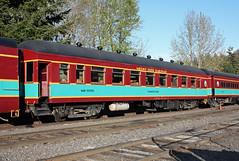 Mount Hood Railroad #1080, Timberline.  Former Oregon Short Line #97, Pullman 1911.  Hood River Oregon, April 2 2016. (Dan Haneckow) Tags: unionpacific hoodriver 2016 mounthoodrailroad passengercars oregonshortline harrimancars mh1080