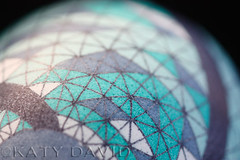 Bound (Katy David Art) Tags: blue white black green art geometric triangles grid 3d aqua folk geometry fine gray goose line wax dye bound batik beeswax aniline pysanka pysanky isoceles