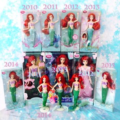 2010 - 2015 My Current Disney Store The Little Mermaid Ariel Classic & Singing Doll Collection ✨🐚❤️🐠💦 (jlantistoys) Tags: ariel doll dolls little disney mermaid disneystore disneyprincess thelittlemermaid partofyourworld disneydolls singingdoll classicdolls