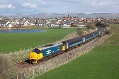 37402 Millom 5th April 2016 (John Eyres) Tags: from with away stephen stop carlisle 050416 barrowinfurness middlemore millom 1437 powering 37402 2c41