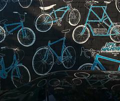 Cycling wall - Bangkok (Antoine - Bkk) Tags: street art wall paint bangkok bycicle xm1 darktable