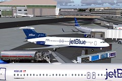 jetBlue Dots Trident 4 KJFK (jonf45 - 2 million views-Thank you) Tags: blue 2004 4 flight jet jetblue jb re dots bae simulator sim fs trident livery fs9 jbu repaint