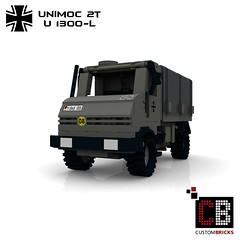 LEGO Custom MW Bundeswehr U1300-L Unimoc CB01 (LA-Design2012) Tags: army lego german instructions custom transporter bundeswehr moc 2t bauanleitung u1300l unimoc custombricks