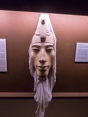 Akhenaten face (melastmohican) Tags: california old travel sculpture art history archaeology statue stone temple us carved ancient king unitedstates antique famous religion egypt culture sanjose landmark nile egyptian pharaoh amenhotep akhenaten amenophis amarna akhetaten