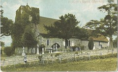 St. Martin's Church, Canterbury- postcard (912greens) Tags: england cemeteries architecture churches canterbury graves historic tombstones churchyards 1900s stmartinschurch