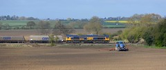 66743 with West Burton - Doncaster [3 of 3] (parkgateparker) Tags: gbrf 66743 northanston southyorkshirejoint syjnt