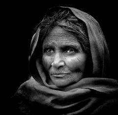 India (mokyphotography) Tags: portrait people bw woman india face blackwhite donna eyes bn persone occhi varanasi ritratto bianconero viso