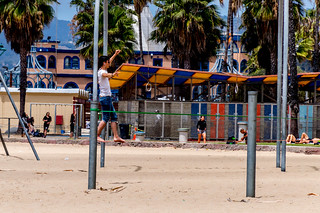 Tightrope Walking - Santa Monica Beach