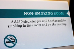 Non-smoking room sign (Victor Wong (sfe-co2)) Tags: usa white sign modern warning hawaii hotel design apartment symbol waikiki no cigarette interior object room smoke icon resort forbidden health stop honolulu suite accommodation non information luxury prohibition hyattregencyhotel
