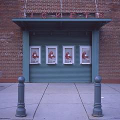 Fenway Park (KevinCollins00) Tags: usa film boston america mediumformat square souvenirs unitedstates baseball massachusetts redsox newengland ishootfilm slidefilm 120film positive fenway provia e6 yashica ballpark 1x1 asa100 filmisnotdead chromefilm believeinfilm mat214