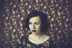 18/52 Rose (bernadetakupiec) Tags: flowers light roses portrait woman selfportrait face spring eyes skin naturallight