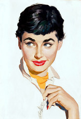 Portrait of a Lady by Jim Schaeffing, circa 1950 (Tom Simpson) Tags: portrait woman sexy girl illustration vintage painting lips 1950s jimschaeffing