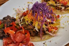 Mmm... tacos (jeffreyw) Tags: cheese beef tacos refriedbeans hotsauce texmex corntortillas