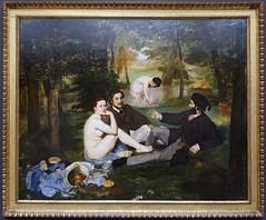 Manet, Le djeuner sur l'herbe (Luncheon on the Grass), 1863 (profzucker) Tags: impressionism realism manet musedorsay 1863 ledjeunersurlherbe luncheononthegrass manetlunch