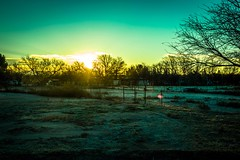 Sunrise over Benson, Arizona. Brrrr...