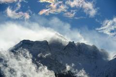 Stormy weather (balu51) Tags: schnee winter himmel wolken berge blau landschaft weiss januar winterlandschaft 2016 gipfel windig strmisch schneefahnen copyrightbybalu51