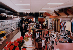 Eulberg's Men and Boys Store, Interior with Bob Eulberg