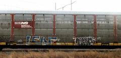 leaf - pagan (timetomakethepasta) Tags: train graffiti leaf ns norfolk southern ra freight pagan wh autorack ync kbt