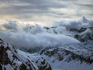 Nubes y nieve