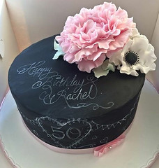 Blackboard Flowers Cake