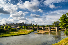 Carcassonne (Aude, France) (clodio61) Tags: old city bridge blue summer sky urban france color building monument water architecture river french landscape photography ancient europe day cityscape exterior outdoor scenic sunny landmark medieval historic aude carcassonne languedocroussillon