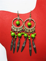 ER02(1) (KapomCrafts) Tags: beads wire earrings dangling jewerly