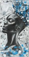 AISHA - Forza Vitale (Mire Le Fay) Tags: donna mixedmedia aisha volto mirelefay