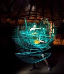 Voodoo Dance - At the Ressonar Festival (1000lights (Ulrich Tausend)) Tags: longexposure light shadow lightpainting painting long exposure darkness ulrich tausend 1000lights www1000lightsde
