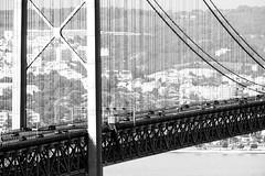 Bridge of the 25th April, Lisbon (dlorenz69) Tags: bridge blackandwhite portugal monochrome lisbon april lissabon 25th brcke