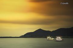 Sunrise Bertioga-SP Brasil (I.Guidi) Tags: sun sol brasil clouds sunrise mar nikon nuvens amanhecer montanha entardecer bertiogasp d7000