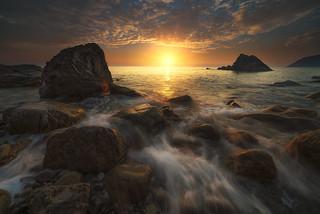Sunset in Liguria