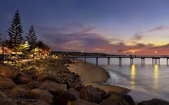 Hot summer night (PhotoArt Images) Tags: sunset seascape beach pier seaside jetty australia adelaide nightatthebeach nikond810 nikon2470mm28 photoartimages brightonbeachadelaide