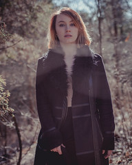 Olivia (gianteyephotography) Tags: portrait fashion forest outside sticks woods close