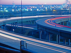 Early morning traffic on I-670, 9 Nov 2015 (photography.by.ROEVER) Tags: november kansascity kc 2015 november2015